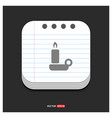candle icon gray icon on notepad style template vector image