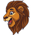 cartoon lion head smiling vector image vector image