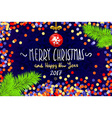 Christmas card with confetti Merry Christmas and vector image vector image