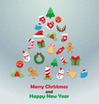 Christmas icon fir tree background vector image vector image