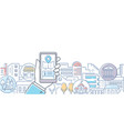 city life - modern line design style vector image vector image