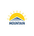 color simple mountain logo vector image