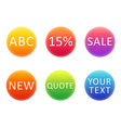 Colorful gradient circles template for your text vector image vector image