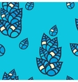 Colorful leaves seamless pattern vector image vector image