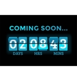 Countdown clock digits board panels timer vector image vector image