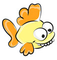 crazy fish on white background vector image vector image