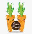 cute carrots cartoons vector image