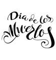 dia de los muertos translation from spanish day vector image vector image