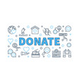 donate modern outline horizontal vector image vector image