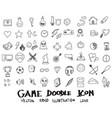 doodle sketch game icons eps10 vector image vector image