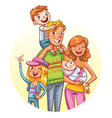 family portrait funny cartoon character vector image