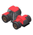 farm tractor with big wheels isometric vector image