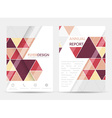 Flyer design with geometric pattern Corporate vector image vector image