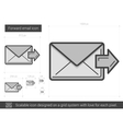Forward email line icon vector image vector image