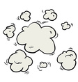 freehand drawn cartoon steam clouds vector image vector image
