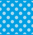 golf ball pattern seamless blue vector image vector image