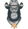 Gorilla - cowboy vector image vector image