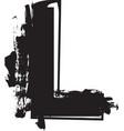 grunge font letter l vector image vector image