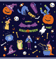 halloween holiday seasonal event of autumn fall vector image