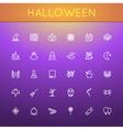 halloween line icons vector image