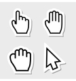 Hand Cursors Icons as Labels vector image vector image