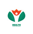 health - silhouette human character in flower vector image vector image