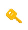 house or car key cartoon vector image vector image