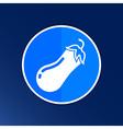 Icon of eggplant Logo label icon vector image