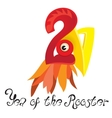 Image a rooster the symbol of the coming year vector image vector image