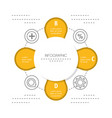 infographic template circle and education icon vector image vector image