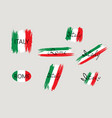 italian flag with handwritten lettering italy vector image vector image