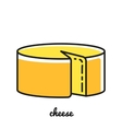 Line art cheese icon Infographic element vector image vector image