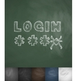 LOGIN icon Hand drawn vector image