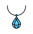 necklace icon filled style editable outline vector image vector image