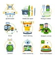 New Technologies Concept Icon Set vector image