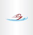 ocean boat ship design vector image vector image