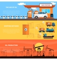 Oil Banners Set vector image vector image