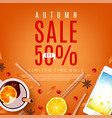 orange background for autumn sale vector image vector image