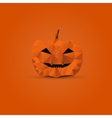 Polygonal halloween pumpkin vector image