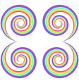 rainbow psychedelic swirl pattern vector image