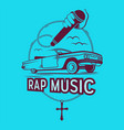 rap music vector image vector image