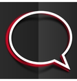 red and white paper round speech bubbles vector image vector image