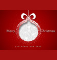 red xmas greeting with abstract xmas ball vector image