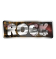 reflection electric guitar in rock inscriptions vector image