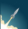 rocket flies into space spaceflight spacecraft vector image