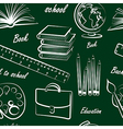 school item seamless vector image vector image