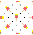 seamless pattern on summer theme with ice vector image vector image