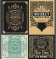 set of antique labels vector image vector image