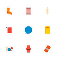 set of handmade icons flat style symbols with vector image vector image