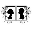 silhouette wedding flourishes vector image